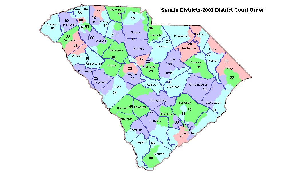 SC Redistricting Wwwscstatehousenet LPITS - Us senate district map